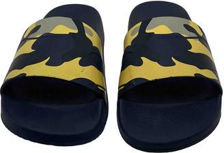 Valentino Navy Plastic Sandals