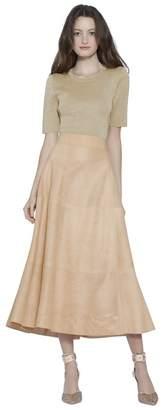 Alice + Olivia Ciara Gold Cropped Pullover