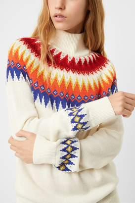 French Connection High Neck Fairisle Jumper