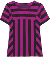 Marc by Marc Jacobs Scooter striped satin-twill top