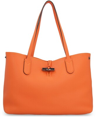 Longchamp Pebbled Leather Tote