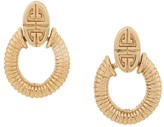 Givenchy Pre Owned 1980's door-knocker earrings