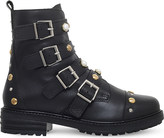 Carvela Swish stud-embellished leather ankle boots