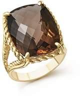 Bloomingdale's Smoky Quartz Rectangular Statement Ring in 14K Yellow Gold