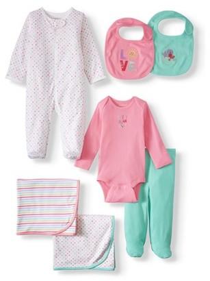 Garanimals Newborn Baby Girl Clothes Baby Shower Gift Set, 7-Piece
