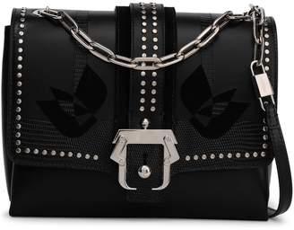 Paula Cademartori Studded Lizard-effect Leather Shoulder Bag