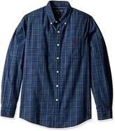 U.S. Polo Assn. Men's Long Sleeve Slim Fit Dobby Button Down Sport Shirt