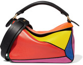 Loewe Puzzle Small Leather Shoulder Bag - Orange