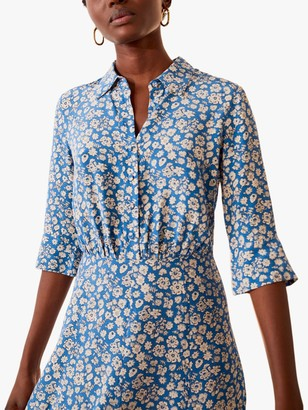 Jigsaw Primrose Midi Dress, Forever Blue