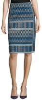 Evangelie Cotton Jacquard Pencil Skirt