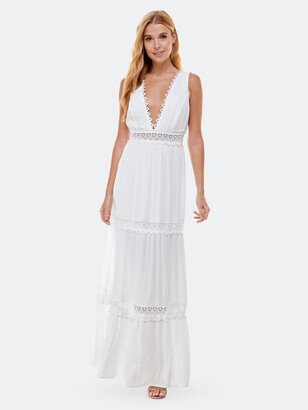 Bebe Lace Inset Maxi Dress