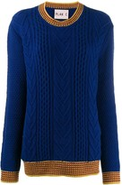 Plan C cable knit jumper