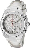 Seiko Women's SRW897 Sportura Chronograph Diamond Accented Dial Leather Watch