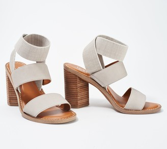 Franco Sarto Leather Heeled Sandals- Dear