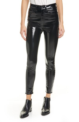 Rag & Bone Super High Waist Ankle Skinny Vinyl Pants