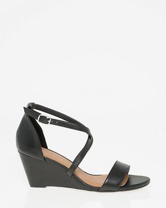 Le Château Leather Criss-Cross Wedge Sandal