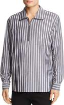 Wesc WeSC Banks Striped Half-Zip Regular Fit Pullover Shirt