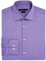 John Varvatos Textured Solid Slim Fit Stretch Dress Shirt