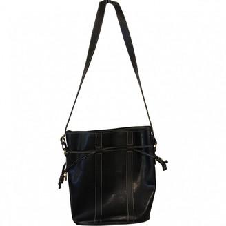 Lancel Elsa Sellier Black Leather Handbags
