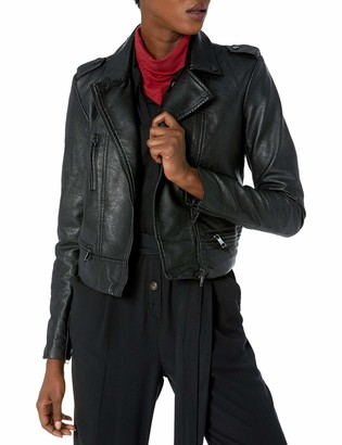 Skinnygirl Women's The The Cropped Moto Jacket Black Small