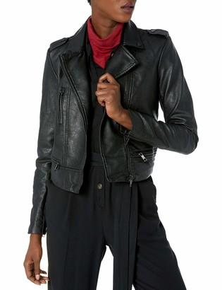 Skinnygirl Women's The The Cropped Moto Jacket Black/White Large
