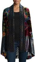 Johnny Was Dream Multi-Print Velvet Kimono Jacket, Plus Size