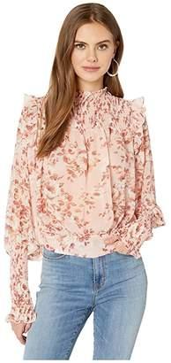Bardot Remi Blouse (Floral Peach 2) Women's Clothing