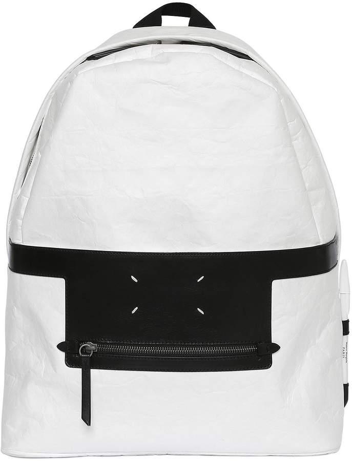 Maison Margiela Leave A Message Techno Paper Backpack