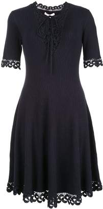Jonathan Simkhai crochet flared v-neck dress
