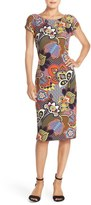ECI Print Piqué Midi Dress