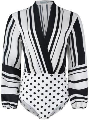 Silvia Tcherassi Hilda Top in Black/White Stripes