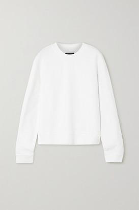 RtA Emilia Cotton-jersey Sweatshirt - White