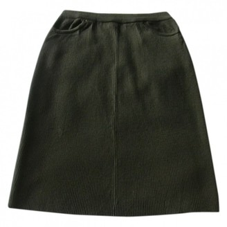N. Non Signé / Unsigned Non Signe / Unsigned \N Khaki Wool Skirts