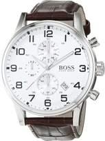HUGO BOSS Men's 1512447 Leather Quartz Watch