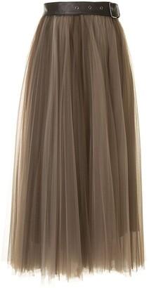 Brunello Cucinelli Belted Tulle Skirt