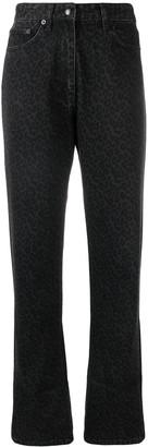 Mcq Swallow Leopard Print Jeans