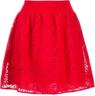 Alberta Ferretti Layered Skater Skirt