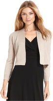 Calvin Klein Petite Three-Quarter-Sleeve Glitter Shrug Cardigan