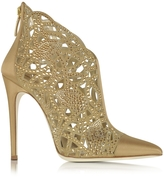 Loriblu Golden Satin and Jewel Bootie