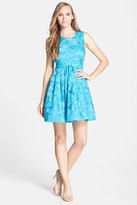 Plenty by Tracy Reese Bailey Embroidered Organza Fit & Flare Dress