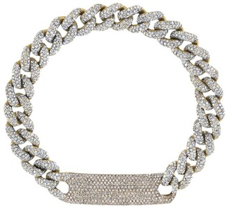 Shay Yellow Gold Full Pave Diamond ID Link Bracelet