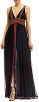 Nicole Miller Chaquira Beaded Maxi Dress