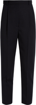 Alexander McQueen High-waisted tapered-leg wool trousers