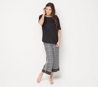 Cuddl Duds Cool & Airy Petite Printed Cropped Pant Pajama Set