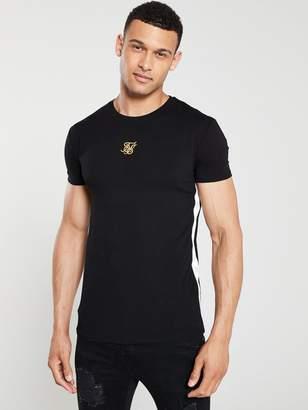 SikSilk Side Tape T-Shirt - Black