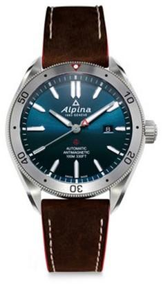 Alpina Sapphire Automatic Leather Watch