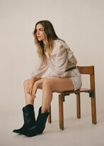 Thumbnail for your product : MANGO Leather cowboy ankle boots