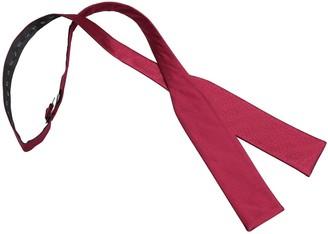James Alexander Premium Plain Herringbone Silk Burgundy Men's Formal Casual Business Wedding Tuxedo Batwing Self Tie Bow Tie