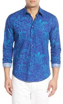 Vilebrequin Men's Regular Fit Turtle Print Sport Shirt