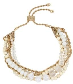 Miriam Haskell New York Imitation Pearl Bead Slider Bracelet